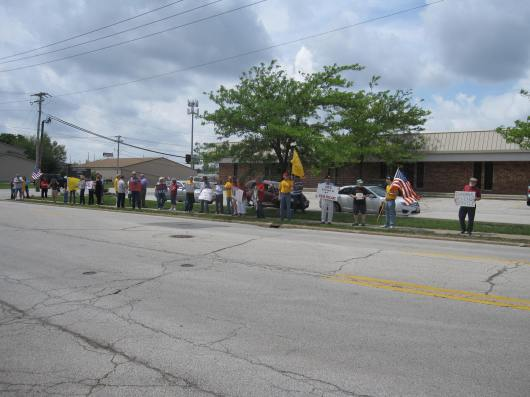 5/21/13 protest outside the Bloomington IRS office