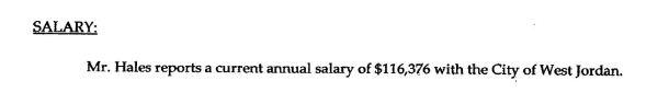 Hales salary