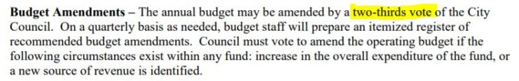 budget amendments