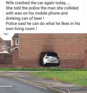 wife crash