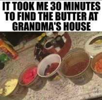 find the butter