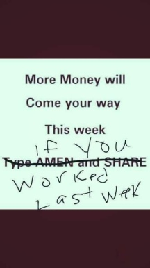 more money this week