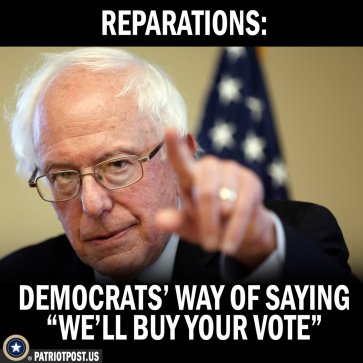 reparations to buy your vote