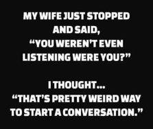 weird start to conversation