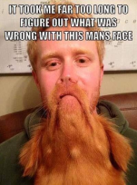 wrong with his face