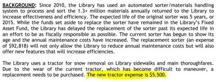 library mower