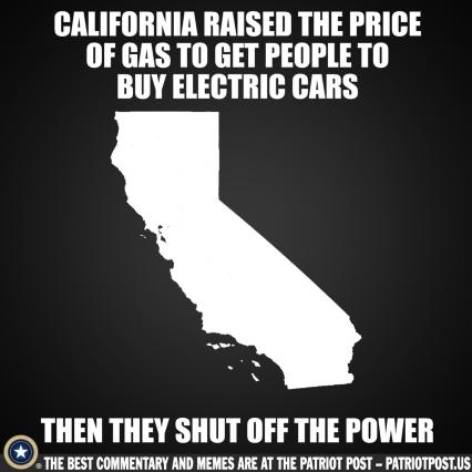 California shut of electric cars