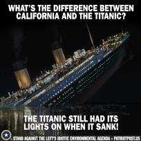 diff betw Titanic and California
