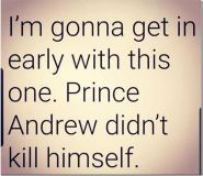 Prince Andrew didn't