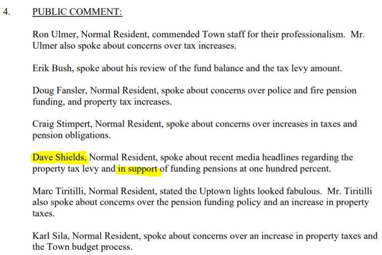 public comment minutes