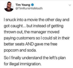 snuck into a movie