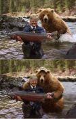 Trump and bear salmon
