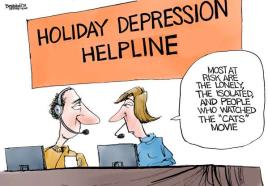 cats depression hotline