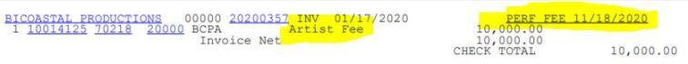 future artist fee