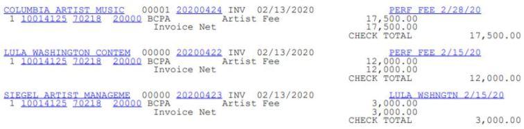 bcpa artist fee feb 3