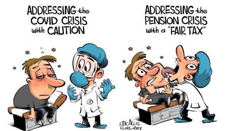 covid vs pension