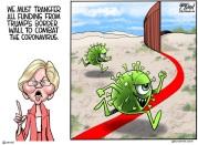 wall against coronavirus