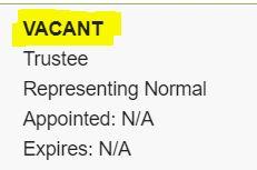 ct vacant