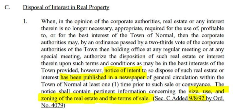disposal of real property