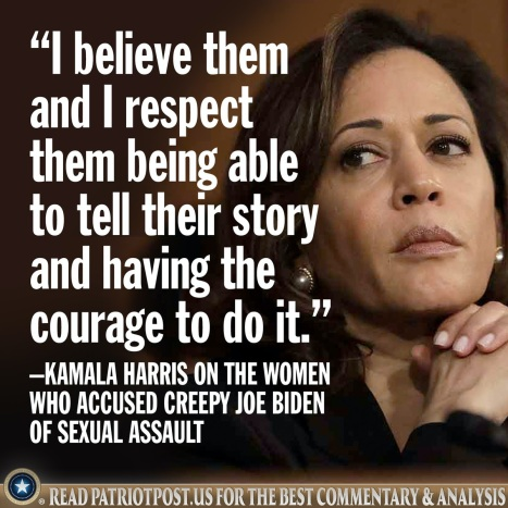 harris on creepy joe