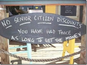 no senior discounts