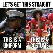 uniform versus costume